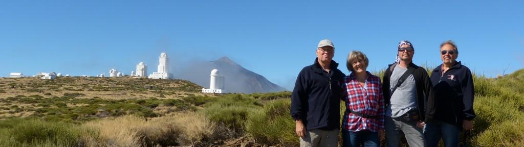 vor dem Teide Observatorium