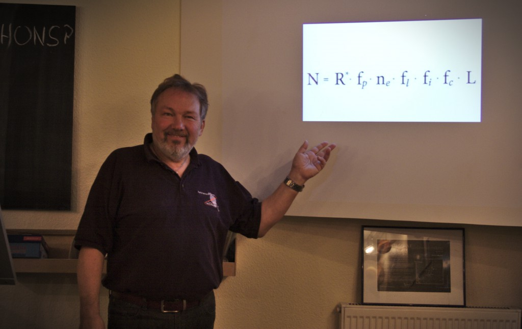 Berthold Fuchs erläutert die Drake Gleichung