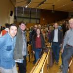 Sternwarte limburg mit insgesamt 10 Personen beim Vortrag