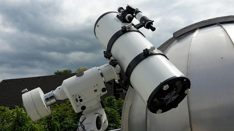Sternsucher sonnenfotografie mit dem newton teleskop